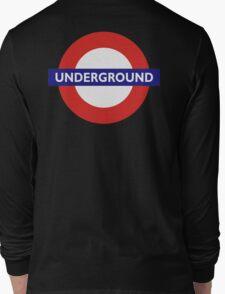 UNDERGROUND, TUBE, LONDON, GB, ENGLAND, BRITISH, BRITAIN, UK on BLACK Long Sleeve T-Shirt