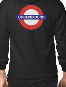 UNDERGROUND, TUBE, LONDON, ENGLAND, BRITISH, on BLACK Zipped Hoodie