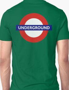 UNDERGROUND, TUBE, LONDON, GB, ENGLAND, BRITISH, BRITAIN, UK on BLACK Unisex T-Shirt