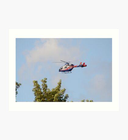 Media Helicopter Art Print