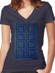 Blue Book Women's Fitted V-Neck T-Shirt