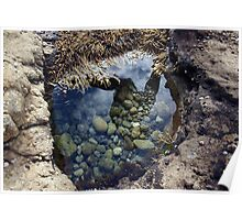 Jumping over rock pools Poster