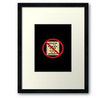 ANTI COMIC CODE 009 Framed Print