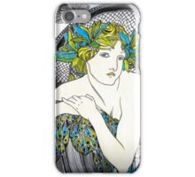 """Appropriation of Alphonse Mucha's """"Woman with Poppies"""" 1898 iPhone Case/Skin"""