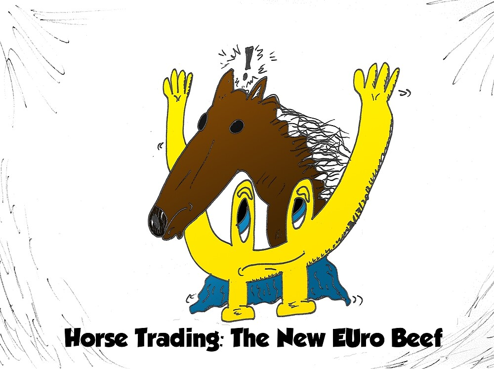 euroman horse meat beef scandal editorial cartoon by Binary-Options