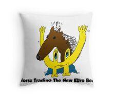 euroman horse meat beef scandal editorial cartoon Throw Pillow