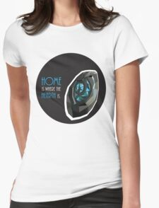 home is where the hearth is. Womens Fitted T-Shirt
