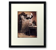 Ghost Attack Vintage photograph Framed Print