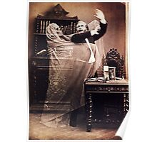 Ghost Attack Vintage photograph Poster