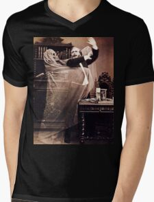 Ghost Attack Vintage photograph Mens V-Neck T-Shirt