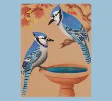 Blue Jays In Fall Kids Tee