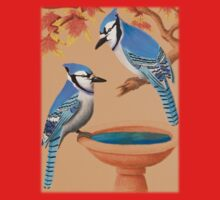 Blue Jays In Fall Kids Tee