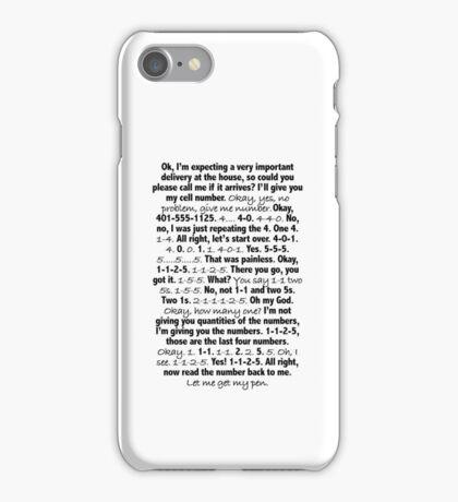 Consuela Phone Number iPhone Case/Skin