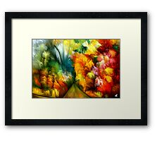 Tropical Abstract by rafi talby Framed Print