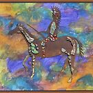 Commanchi on Horseback ll by aaron a amyx