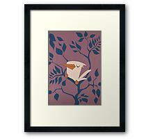 White and Purple.  Framed Print