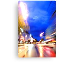 Rush through the city Canvas Print