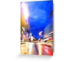 Rush through the city Greeting Card