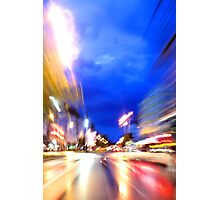 Rush through the city Photographic Print