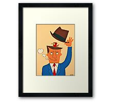 Ode the Mad Men. Bird under the Hat. Framed Print
