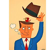 Ode the Mad Men. Bird under the Hat. Photographic Print