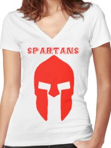 3rd bct sparta Women's Fitted V-Neck T-Shirt