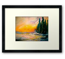 The Wild Sun.. Framed Print