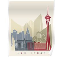 Las Vegas skyline poster Poster