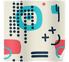 Modern hand draw colorful abstract seamless pattern Poster