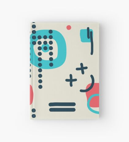 Modern hand draw colorful abstract seamless pattern Hardcover Journal
