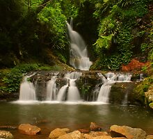 Elabana Falls with rocks by Michael Matthews