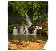 Elabana Falls with rocks Poster