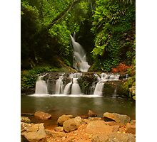Elabana Falls with rocks Photographic Print