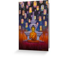 Light of Buddha Greeting Card