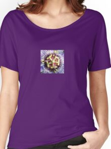 Close Up of The Centre Of a Passiflora Flower Women's Relaxed Fit T-Shirt