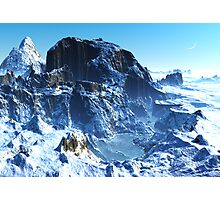 Winter in Mountain Valley Photographic Print