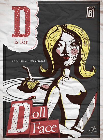 D is for DollFace by Michael Alesich