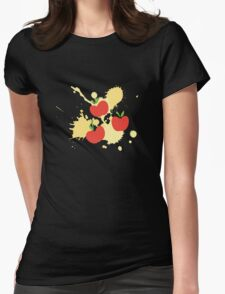 Apple Jack Splat Womens Fitted T-Shirt