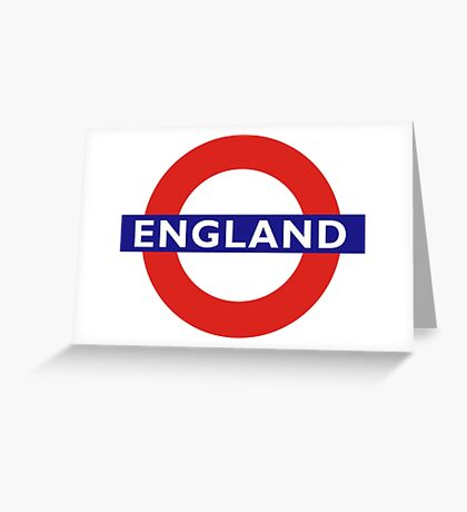 TUBE, UNDERGROUND, ENGLAND, English, UK, LONDON, BRITISH Greeting Card
