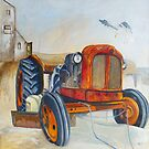 Rusty Tractor at Boulmer, Northumberland by Sue Nichol