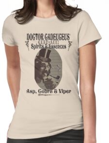 Dr Cadeuceus' Cure-all Snake Oil Womens Fitted T-Shirt