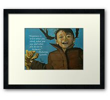 Rahil - Quotes Framed Print