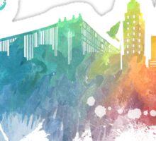 New York City skyline colored Sticker