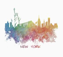 New York City colored skyline One Piece - Short Sleeve