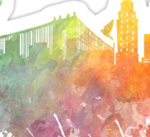 New York City colored skyline Sticker