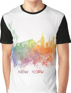 New York City colored skyline Graphic T-Shirt