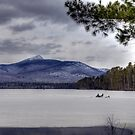 Ice Fishing on Lake Chocorua by Monica M. Scanlan