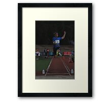Adelaide Track Classic 2013 - Long Jump 5 Framed Print