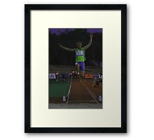 Adelaide Track Classic 2013 - Long Jump 6 Framed Print