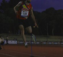 Adelaide Track Classic 2013 - Long Jump 8 by Stuart Daddow Photography